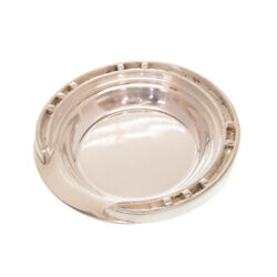 Pre-owned Authentic Hermes Ashtray Silver 925 Antique Silver