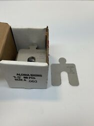 Aloma Shims Size A .060 Stainless Box Of 25