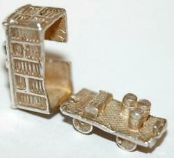 Rare Vintage Nuvo Opening Train Freight Car Sterling Silver Charm C. 1960and039s