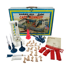 Vintage 1968 Marx Cape Kennedy Action Carry-all Tin Litho Space Playset No 4625