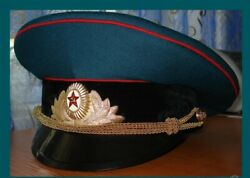Rare Cap Of Ceremonial Officer Soviet-ussr Times.hat Militaria Armay Vintage