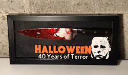 2018 Michael Myers Halloween Knife Display Real Steel H40 Myers Mask Horror Prop