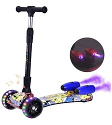 3 Wheel Scooter With Led Spraying Jet, Bluetooth, Music Effect
