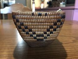 Authentic Native American Thompson River Basket C 1900-1920's
