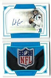 2019 Will Grier 1/1 Nfl Shield Rpa Rc On-card Auto National Treasures Panthers