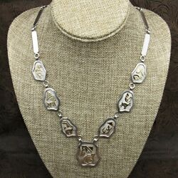 Modern Navajo Sterling Silver And 14k Gold Overlay Necklace By Jack Tom
