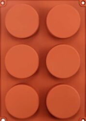 2 Pastry Oreo Soap Cake Silicone Mold Cookie Chocolate Muffin Cupcake 6 Holes