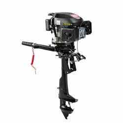 4 Stroke 6 Hp Outboard Motor Fishing Boat Engine Air Cooling Single Cylinder