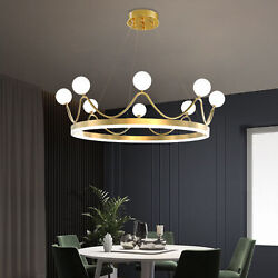 Acrylic Crown Led Ceiling Light Branches Chandelier Living Room Bedroom Lamp Us