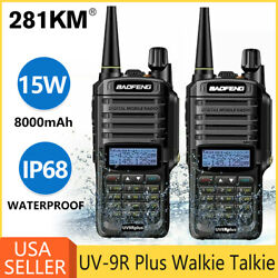 Baofeng Uv-9r Vhf Uhf Dual-band Fm Ham 18w Portable Two-way Radio Walkie Talkie