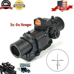 1x-4x Scope Red Dot Mini Purpose Dual Fixed Sight Tactical Angle Hunting Wide ✅✅