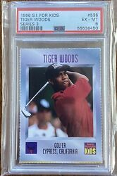 1996 Tiger Woods Rookie Si Sports Illustrated For Kids Rc 536 Psa 6 Slab