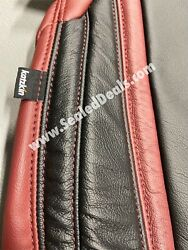 New Katzkin 2015-2021 Dodge Challenger Leather Seat Covers Medium Red And Black