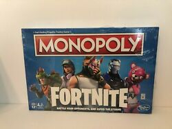 Hasbro Monopoly Fortnite Board Game Ages 13+dmg New