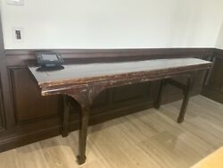 Large Antique Asian Alter Sofa Table Sideboard/buffet