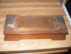 Ant. Ansonia Mantel/kitchen/parlor Clock Walnut Base Only Parts Fix Repair 1894