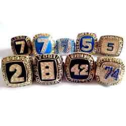 New Collection 9pcs New York Yankees World Series Championship Ring All Size