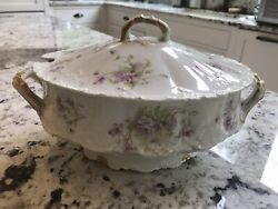 Gorgeous Theodore Haviland Limoges France Schleiger 1903 Soup Tureen