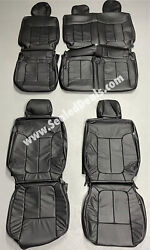 2011 Ford F-150 Xlt Supercrew Black Leather Factory Style Seat Covers Upgrade
