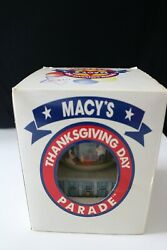 1999 Macy's Thanksgiving Day Parade Snow Globe - Twin Towers, Barney, More..