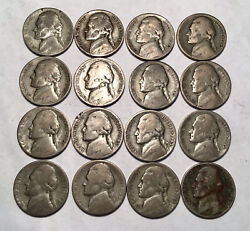16 - 1943 Jefferson Nickels Wartime Silver Content