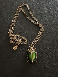 Vintage Large Scarab Spikes Steampunk Chunky Rhinestones Jewelry Necklace