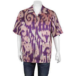 Menand039s Multicolor Swirl Print Bowling Shirt