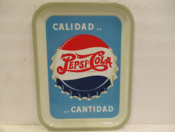 Super Nice 1940and039s Soda Pepsi Cola Double Dot Mexican Advertising Tin Tray