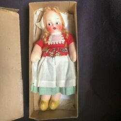 Rare Early Vogue Cloth Doll In Box