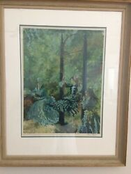 Sir William Russell Flint Framed Signed Lithograph Victorian Diversion 22 X 17