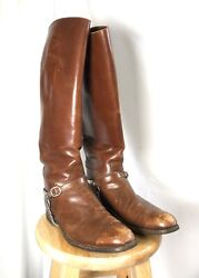 Original Ww1 Era Us Military Cavalry Leather Riding Boots With Spurs And Chains