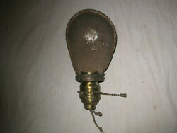 Antique O C White Lamp Shade Large End W/ H And H Socket + Green Hubbell Shade