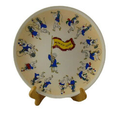 Vintage Collectible Korean Plate Farmers Music Dancing By Charmstone Chin Hung
