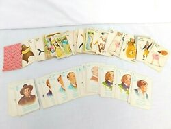 Vintage Fairchild Authors Cards - Whitman Animal Rummy / Circus Old Maid Cards