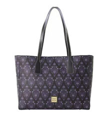 New Disney Parks Dooney And Bourke Haunted Mansion Purple Wallpaper Tote Purse
