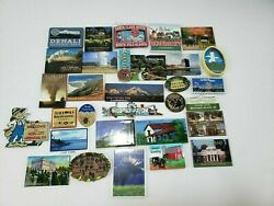 Refrigerator Magnets Lot Of 31 Landmarks And Parks See Pictures