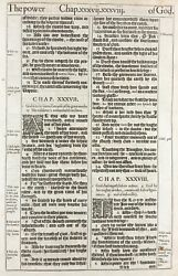1611 King James Bible Leaf Job38 The Lord Answered Job Out Of The Whirlwind And039heand039