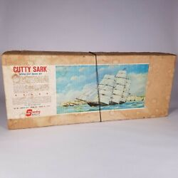 Vintage Sterling Models And039cutty Sarkand039 Solid Wood Hull Ship Model Kit - C.1960