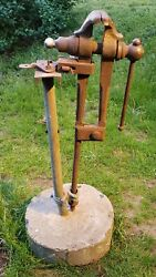 Mounted Blacksmith Post Vise Tool 5 Inch 5 Jaws