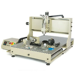 Usb 4 Axis 1500w Cnc 6090 Router Engraving 3d Drilling Milling Vfd Machine Used