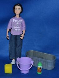 Breyer 2014 17 Classic Girl Doll amp; Accessories From Pet Groomer Trough Bucket