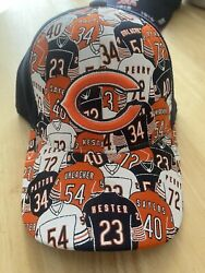 Chicago Bears Hat Featring Urlacher, Payton, Sayers, Hester, Perry