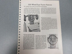 Rare John Deere 1010 Farm Tractor Features And Options Brochure 18 Page
