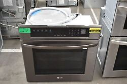 Lg Lws3063bd 30 Black Stainless Built-in Single Electric Wall Oven Nob 109058