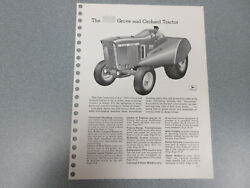 Rare John Deere 3010 Grove And Orchard Tractor Brochure 6 Page