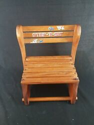 Vintage Wooden Sit-r-step Children First Seat Or Step Stool