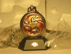 Sale 30.00 Dicount The Franklin Mint Harley Davidson Collector Pocket Watch New
