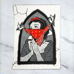 Mint Billy Daggers And039pray For My Enemiesand039 Variant Hand Embellished Ap 18 X 24