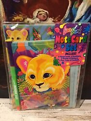 Lisa Frank New Notecard Set With 2 Sticker Sheets Pen Confetti...