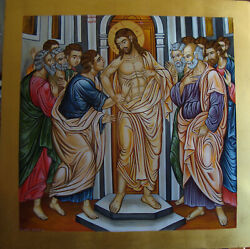 The Touch Of Thomas Hand-painted Byzantine Icon Made In Greece